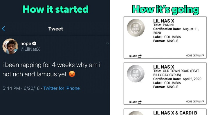 how it started vs how its going celebrities