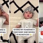 fake baby tiktok