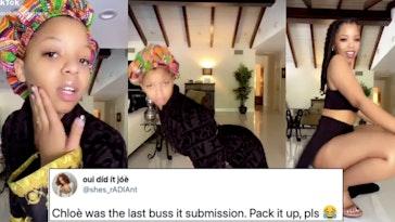 chloe bailey buss it, chloe bailey buss it challenge