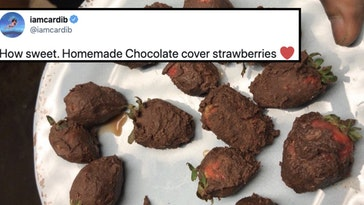 cardi b strawberries