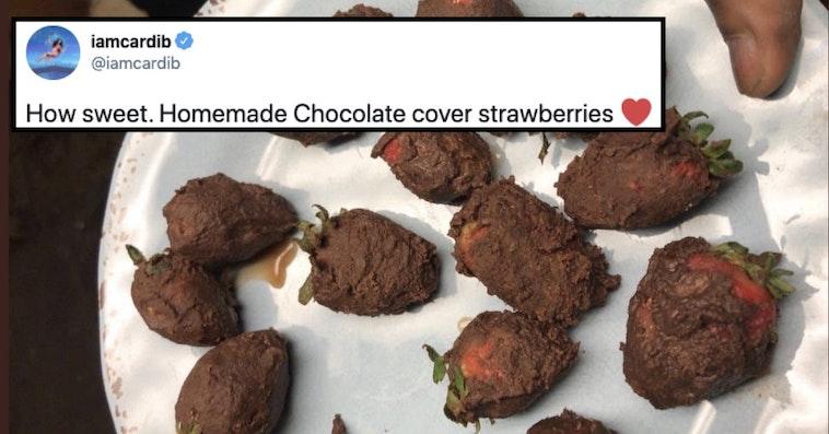 cardi b strawberries