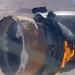 Boeing 777 engine fire