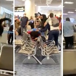 miami airport fight