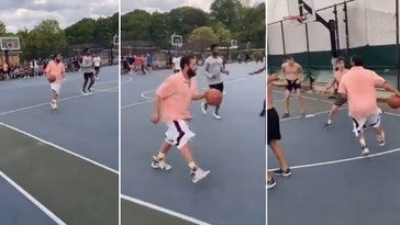 adam sandler pickup basketball