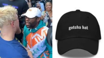 jake paul floyd mayweather, jake paul gotcha hat