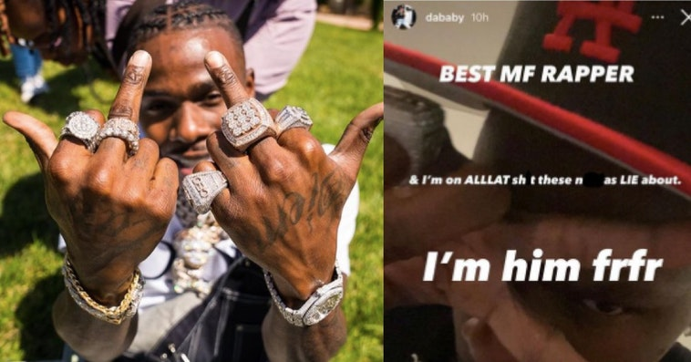 dababy the best, dababy other rappers won't work with him