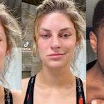 white women fake crying tiktok trend