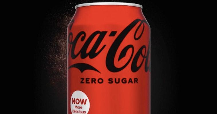coke zero change