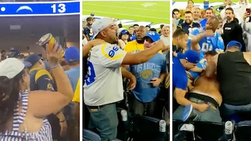 chargers rams game fight